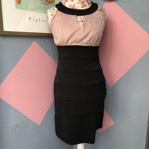 Two tone pencil dress enfocus studio